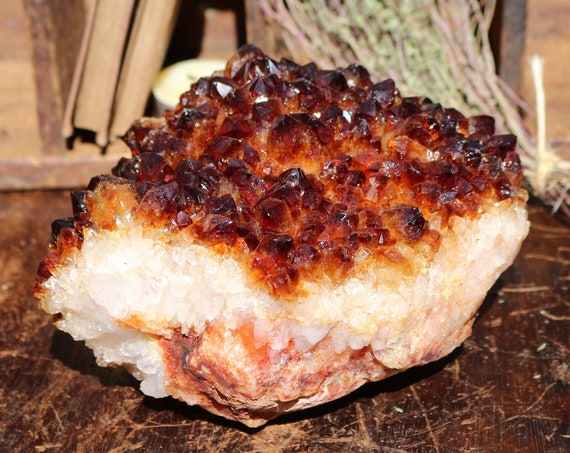 Dark Orange Citrine Pine Rosette 4.16 lbs.