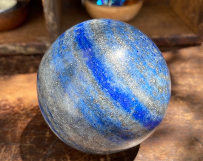 Featured listing image: Extra Large Lapis Lazuli Sphere 72mm