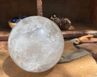 Extra Large Clear Quartz Sphere 72mm ~ Your Own Crystal Ball!