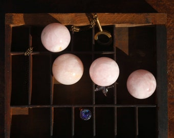Light Pink Rose Quartz Spheres