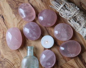 Rose Quartz Palm Stones ~ Various Sizes Available