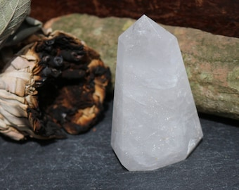 Clear Quartz/Milky Quartz Crystal Point