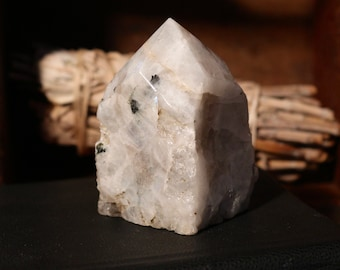 Rainbow Moonstone Point