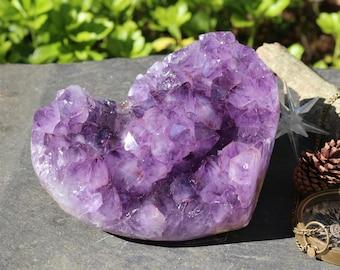 Amethyst Heart 6 lbs., Large Amethyst Geode Heart, Heartshaped Amethyst Geode, Amethyst Heart, Purple Crystal Heart, Bohemian Wedding