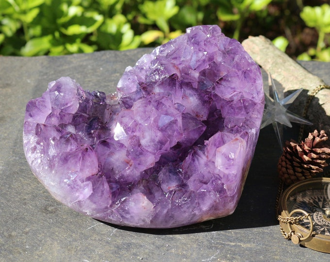 Large Amethyst Geode Heart ~ 6 pounds!