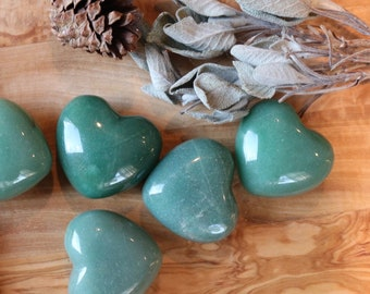 Green Aventurine Hearts for your pocket!