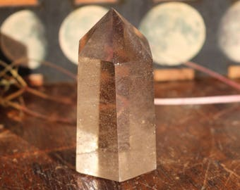 Smoky Quartz Polished Crystal Point 44g, Smoky Quartz Point, Standing Smoky Quartz, Polished Smoky Quartz, Crystal Wand, Crystal Lovers