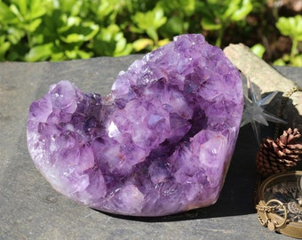 6 pound Amethyst Geode Heart from Uruguay