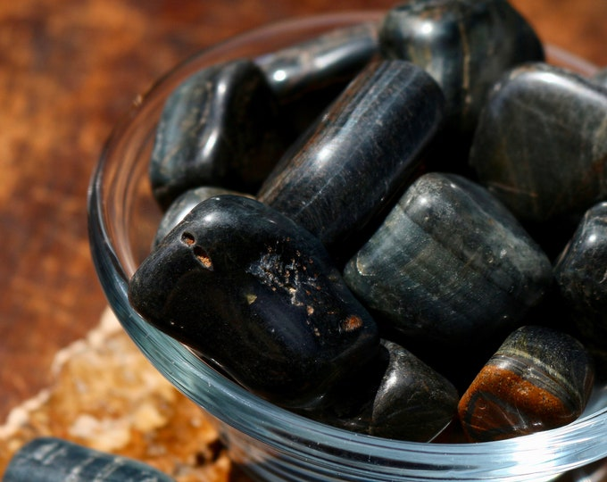 Blue Tigers Eye Chunks ~ Crystal for Anxiety