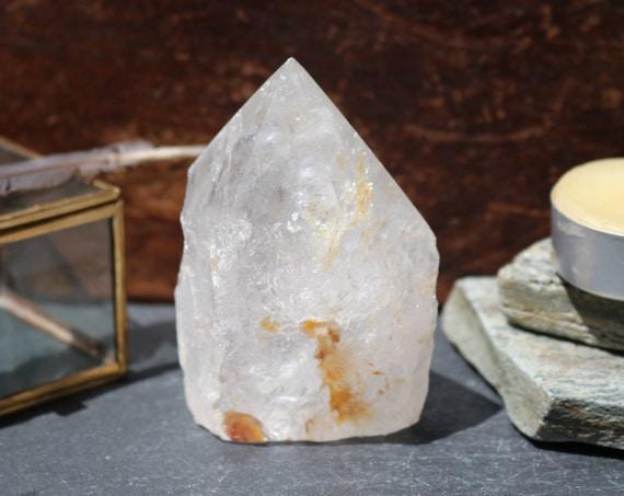 "Clear Quartz Crystal Point ~  3.25"", Raw Quartz Crystal Point, Standing Crystal Point, Clear Quartz Crystal Generator, Healing Clear Quartz"