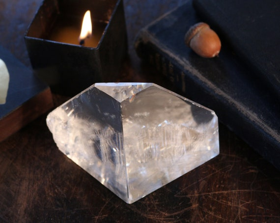 Clear Optical Calcite ~ Glacier Shaped