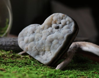 Green Agate Druzy Heart ~ A Heart Chakra Crystal for your Heart Chakra!