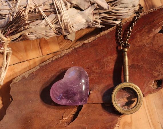 Pocket Sized Uruguay Amethyst Heart