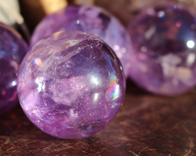 Amethyst Spheres ~ 3 Sizes Available