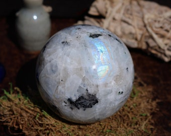 XL Rainbow Moonstone Sphere 83mm