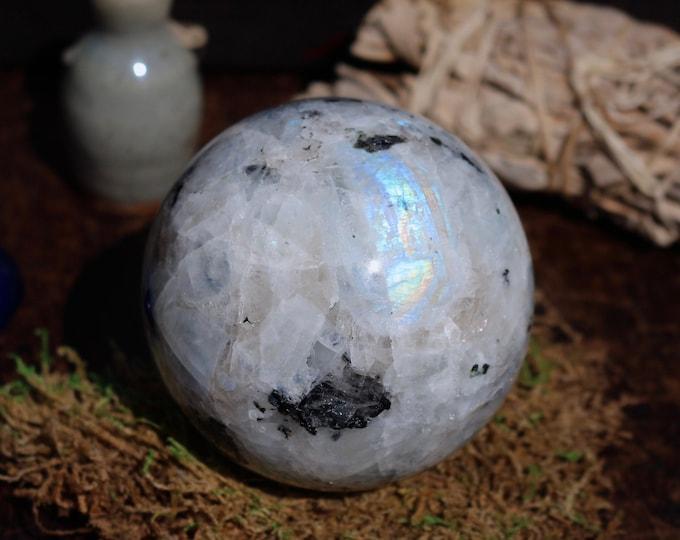 Featured listing image: XL Rainbow Moonstone Sphere 83mm