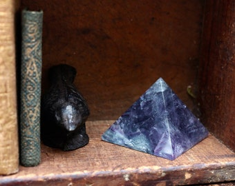 "Rainbow Fluorite Pyramid 2"""