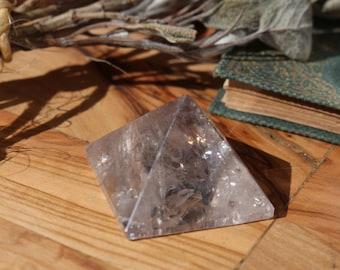 Clear Quartz, Smoky Quartz & Amethyst Pyramid ~ 3 in one!