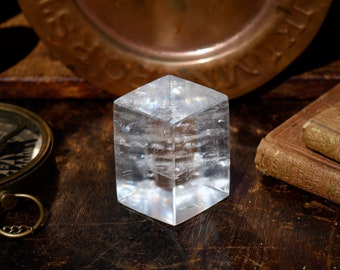 Crystal Clear Optical Calcite Rhombus