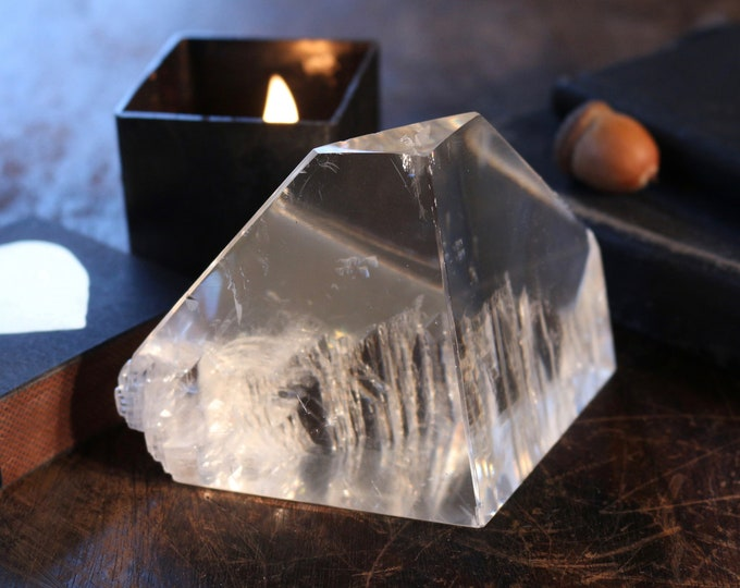 Featured listing image: Crystal Clear Optical Calcite Iceberg Chunk, 312g