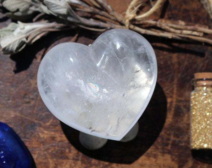 Featured listing image: Puffy Large Clear Quartz Heart ~ Mother's Day!