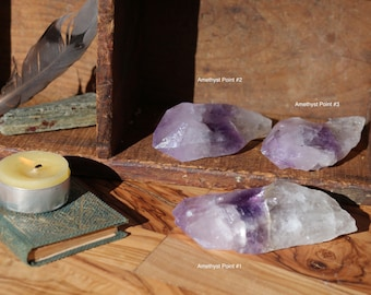 Tri-Color Amethyst Points from Uruguay ~ The Perfect Talisman