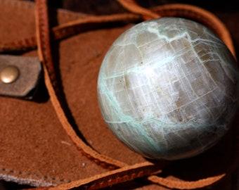 Large Green Moonstone Sphere 64mm
