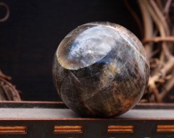 Black Moonstone Sphere ~ 41mm