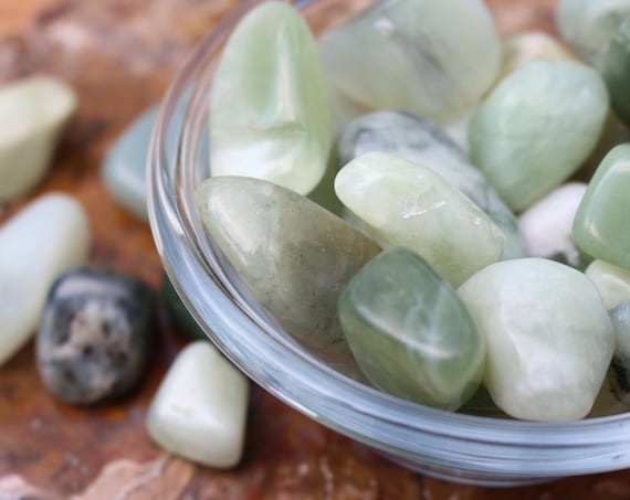 Set of 2 Jade Stones ~ Colors vary from light to dark green!