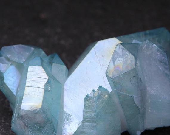 Aqua Aura Quartz Cluster 30g, Blue Aura Quartz, Aura Crystal, Aqua Angel Aura Quartz, Blue Quartz Cluster, Blue Crystal Cluster