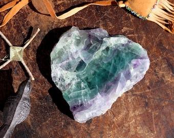 Rainbow Fluorite Slab ~ 1 pound