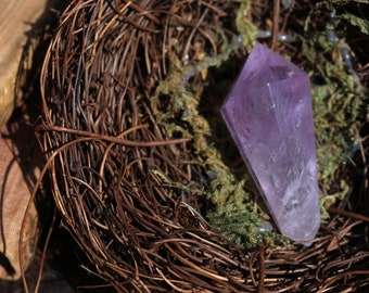 Mini Double Terminated Amethyst Point ~ The Perfect Talisman