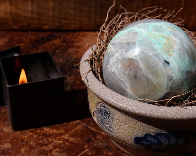 Featured listing image: Large Green Moonstone Sphere 1.54 lbs.