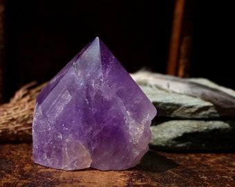 Dark Purple Bolivian Ametrine Point 300g