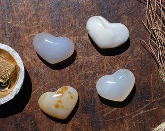 Chalcedony Hearts ~ Pocket Sized!