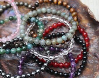 Assorted Crystal Chakra Bracelets ~ Buy 4, Get 1 Free