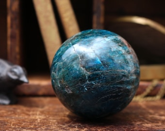 Blue Apatite Sphere 64mm