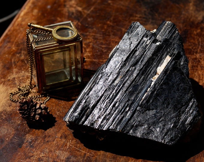 Large Black Tourmaline Chunk ~ 3.10 lbs