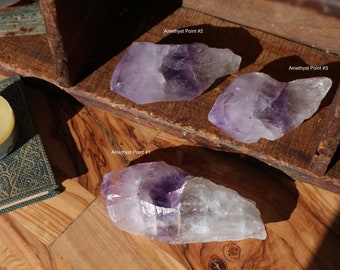 Natural Uruguayan Amethyst Points, Choice of 3