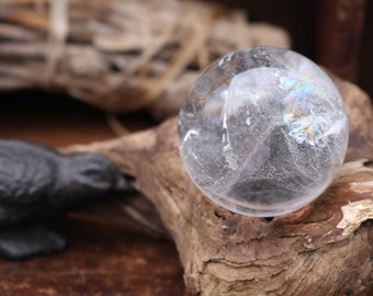 Clear Quartz Sphere 48mm ~ A BALL OF RAINBOWS!
