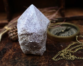 Large Lepidolite Point ~ The Calming Crystal