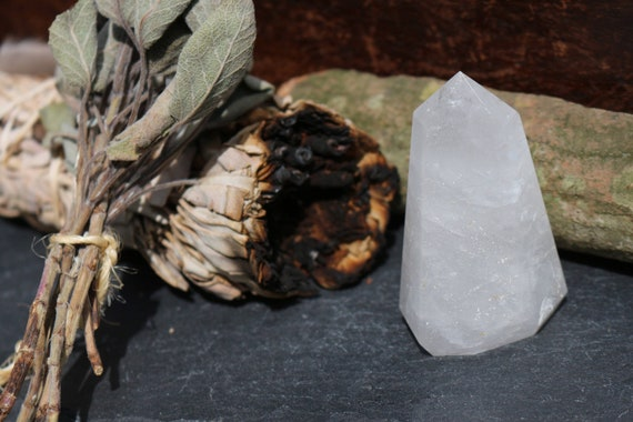 Clear Quartz Crystal Point ~ Milky Quartz