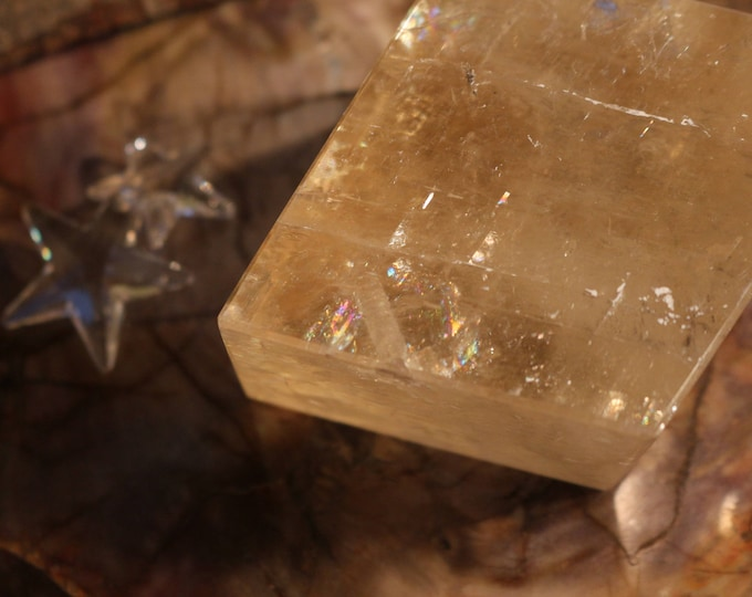 Large Golden Calcite Chunk 2.07 lbs.