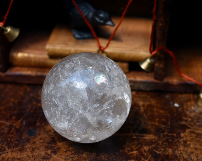 Featured listing image: Large Clear Quartz Sphere 1.4 lbs
