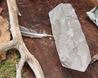 "Clear Quartz Crystal Point, 4.75"" Tall"