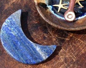 Lapis Lazuli Crescent Moon