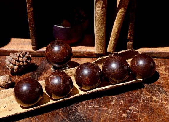 Polished Garnet Spheres