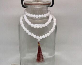 Rose Quartz Mala Beads, Rose Quartz Prayer Beads
