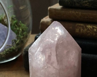 Fully Polished Rose Quartz Point ~ For Your Heart