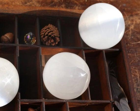 Large, Clear Selenite Spheres, 76mm